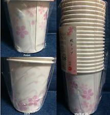 20 Pack Japanese Sakura / Cherry Blossom Paper Cups - Japan Picnic / Hanami Cups