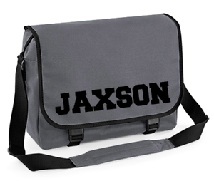 Image Is Loading Personalised Name Messenger Bag Back To School