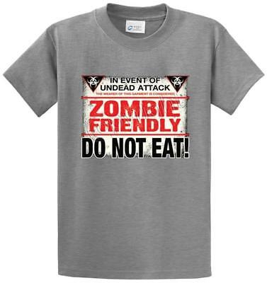 Big and Tall T-shirt Zombies Graphic Tee King Size Bigmen Zombie Shirts
