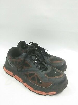 5576abbca55 Red Wing Athletic Steel Toe Shoes size US 9 2E Slip Resistant Orange Brown    eBay