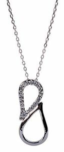 Swarovski-Element-Crystal-Infinity-Loop-Pendant-Necklace-Rhodium-Authentic-7130w