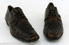 Schnürer Görtz Shoes Halbschuhe Business Echtleder braun antik Finish Gr. 44