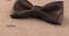 Cuir-Noeud-Papillon-Homme-Femme-Qualite-Marron-Noir-Blanc-Rouge-Bleu-Argent-Dore miniature 25