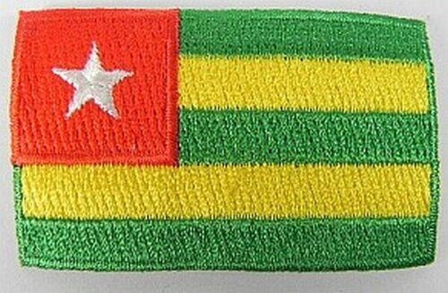 Togo Aufnäher gestickt,Flagge Fahne,Patch,Aufbügler,6,5cm,neu