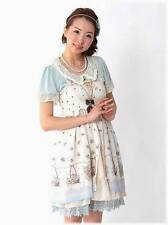 AXES FEMME bunny theme Lolita white dress ~ NEW ~ JAPAN ~ JAPANESE
