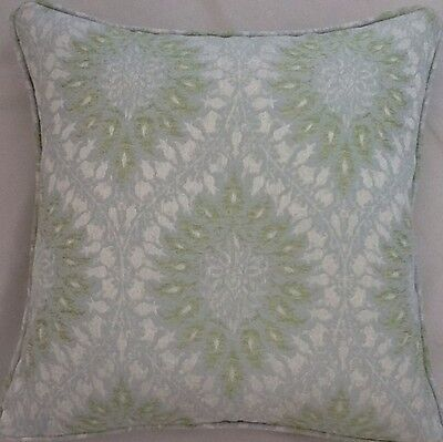 A 16 Inch cushion cover in Laura Ashley Provence Duck Egg Fabric