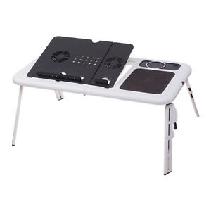 Image Is Loading Adjustable Portable Laptop USB Folding Table W 2