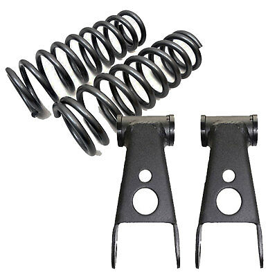 "B 1997-2003 Ford F150 1/"" Front Lowering Coil Springs Drop 2/"" Shackles #253510"