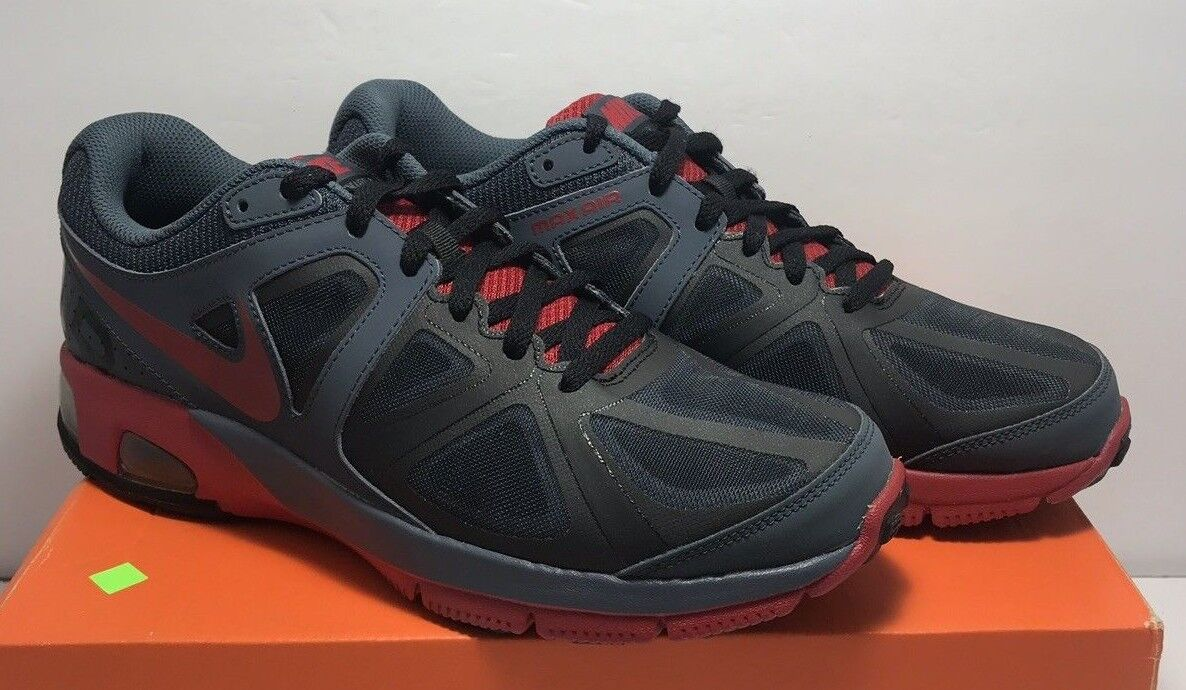 Nike Mens Size 9.5 Air Max Run Lite 4 Black Red Running shoes 554904 403