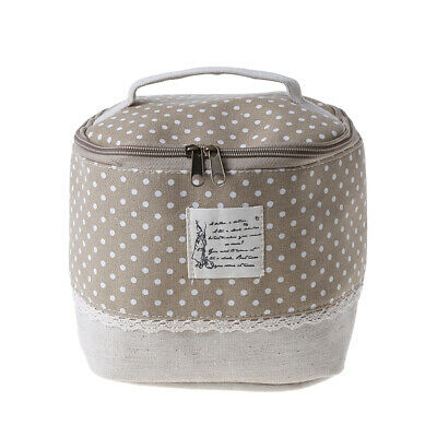 Travel Multifunction  Linen Cosmetic Makeup Bag Toiletry Organizer Storage Case