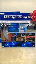 Prime Indoor Outdoor Remote Controlled LED Light String Kit 25'