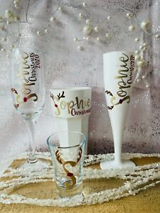 18th Birthday Shot Glass champagne Wine Flute Gift Box Set