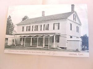 1905-10 Birthplace of Harriet Beecher Stowe Litchfield Connecticut CT Post Card