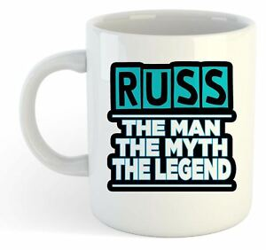f338508c2107 Image is loading Russ-The-Man-The-Myth-The-Legend-Mug-
