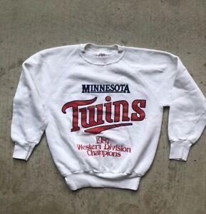 competitive price 8ea8c 47737 Details about Vintage Minnesota Twins 1987 Western Division Champions Crew  Neck Sweatshirt