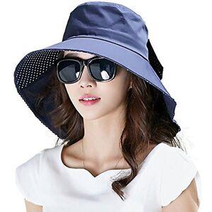 93a4fc34931bb Siggi Womens Wide Brim Summer Sun Flap Bill Cap Cotton Hat Neck ...