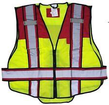 6 Point Breakaway Traffic Reflective Safety Vest Red Size 3xl Hi Vis