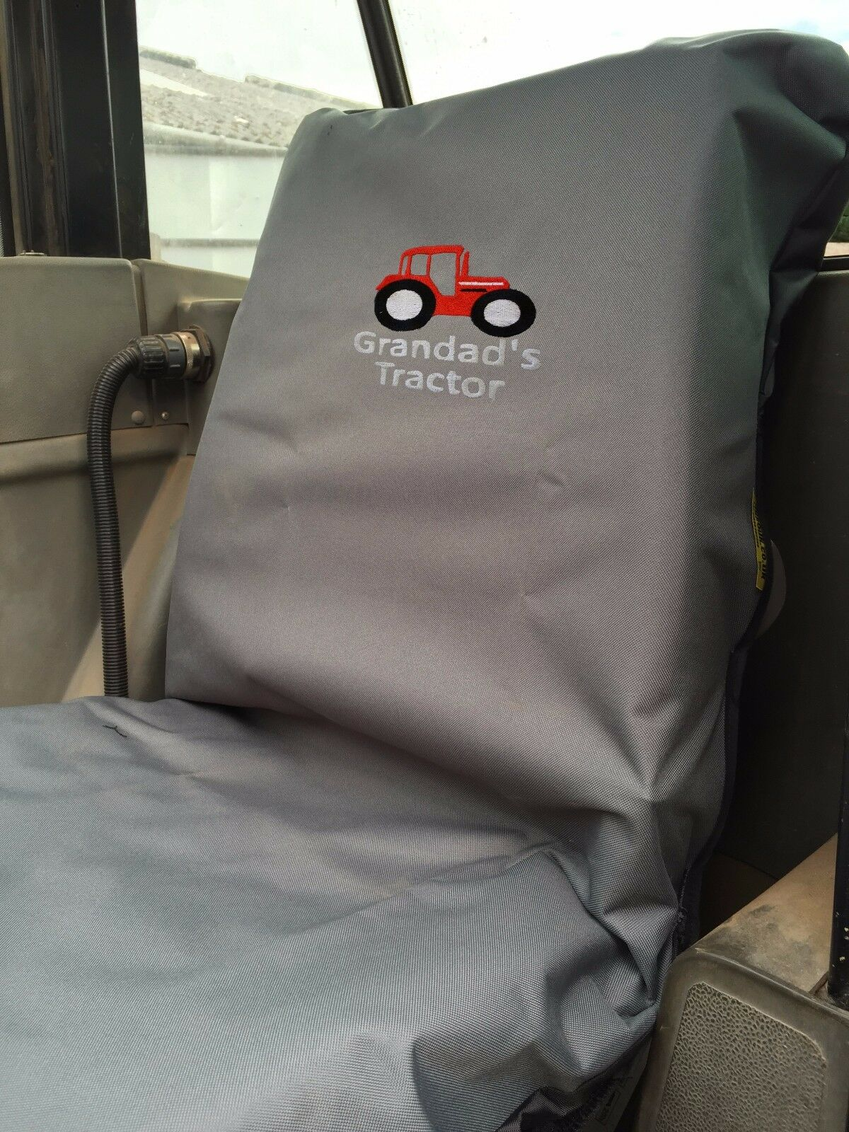 Grandad's Tractor  embroidered Seat Cover Waterproof Ideal Christmas present