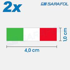 2x Italien Flagge Aufkleber (Nr.097) Italian Flag Sticker Italia Italy 4,0x1,0cm