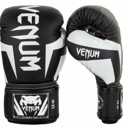 Venum Elite Guantoni da boxe-arti marziali-MMA-MUAY THAI-Nero//Ghiaccio
