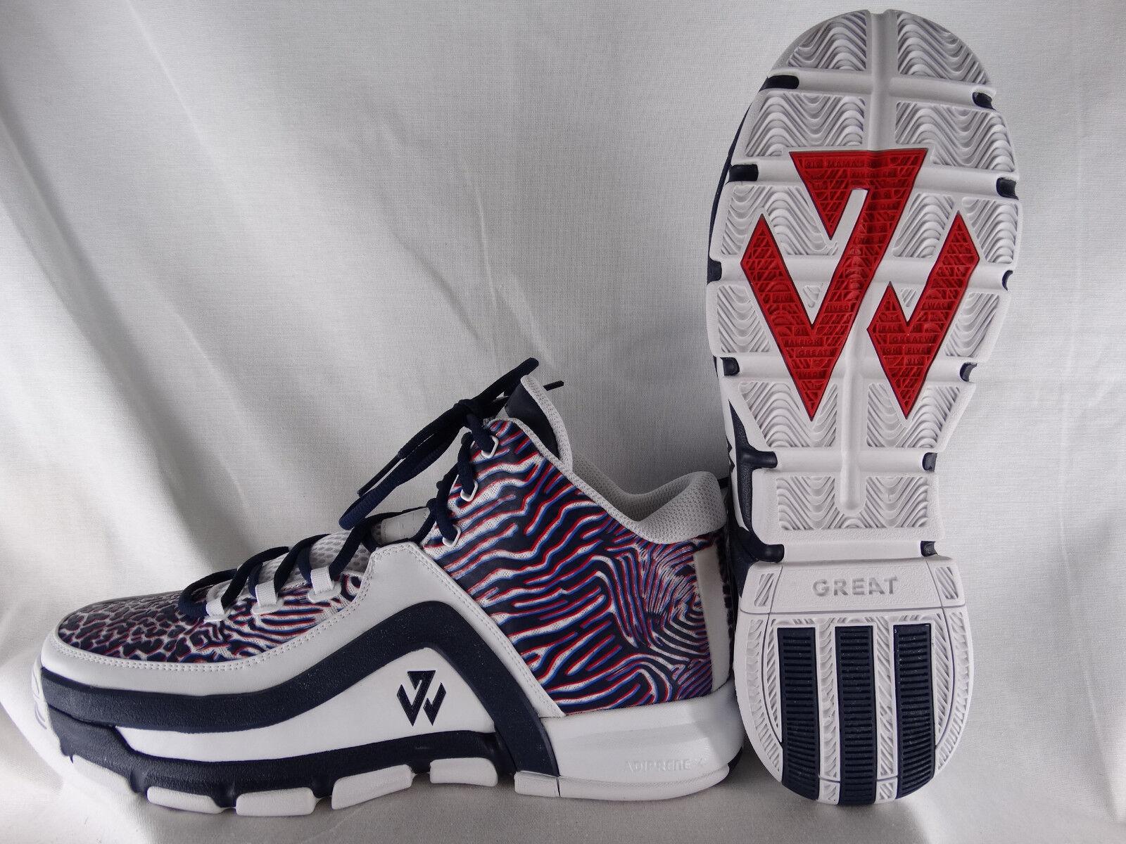 Adidas John Wall 2 Basketballschuhe F37310 weiß-blau-rot EU 48 UK 12,5