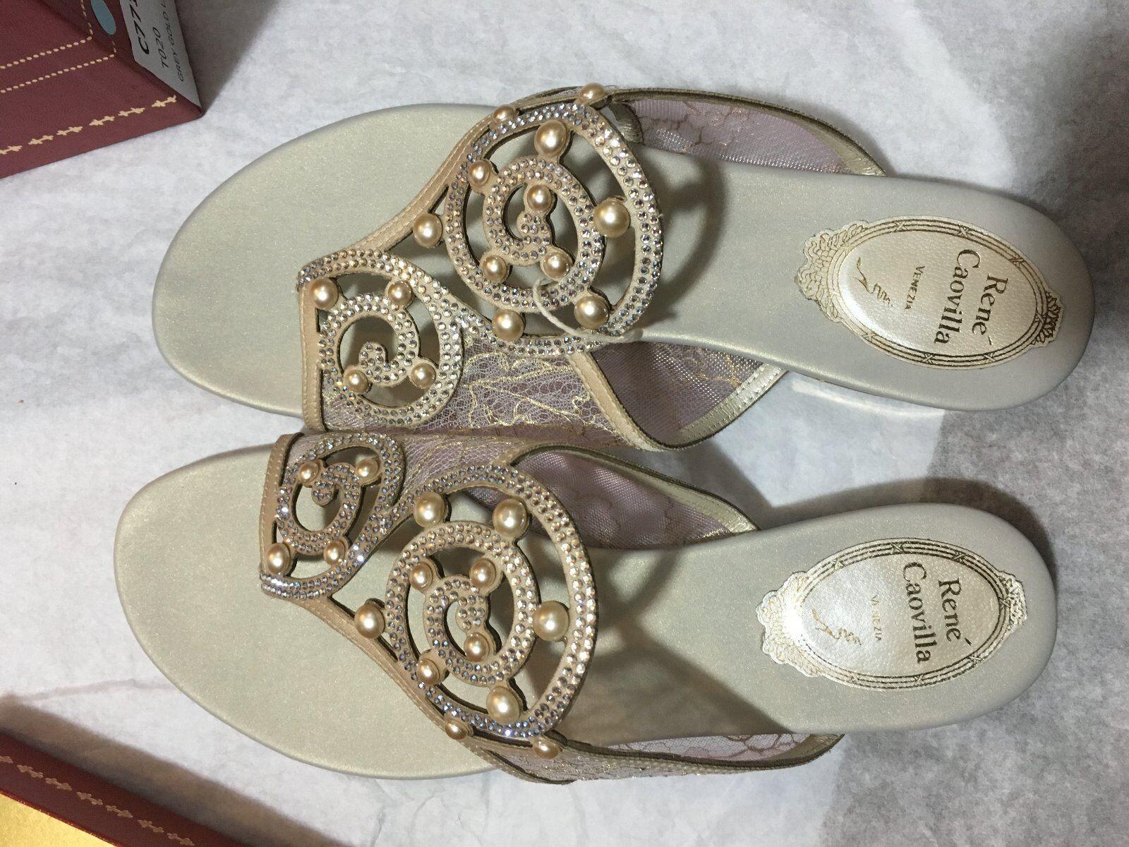 Rene Caovilla sandals flats formalwear wedding wear evening wear