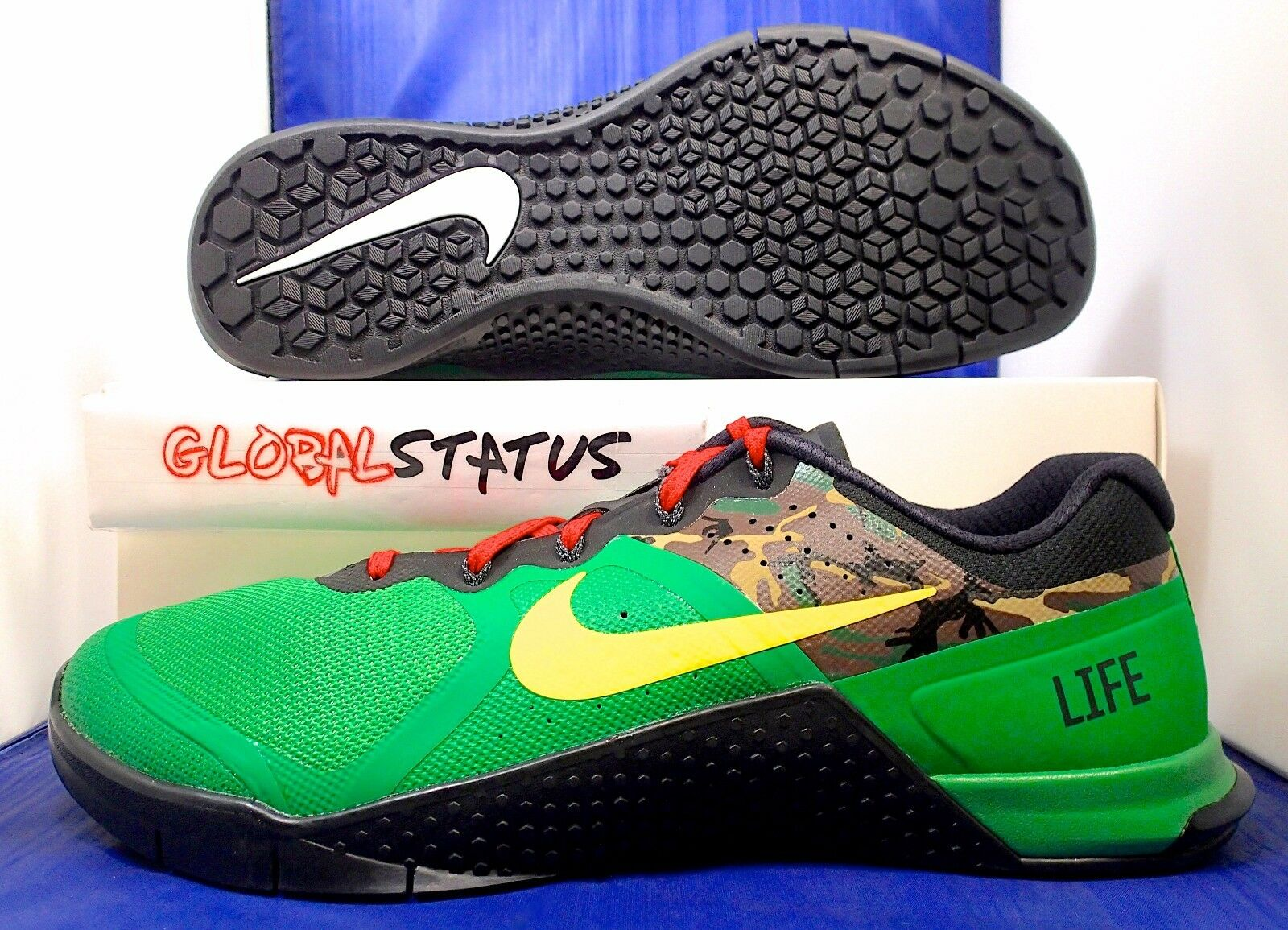 MENS NIKE ID METCON 2 GREEN YELLOW CAMO CROSS FIT SHOES 846027 991 SIZE 11 Great discount