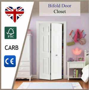 Image Is Loading 6 Panel Internal Bifold Doors Folding White Colonist