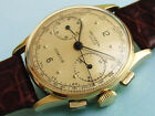 UNIVERSAL GENEVE COMPUR 18K SOLID GOLD '40S CAL 285 ABSORBING MILITARY ENGRAVING