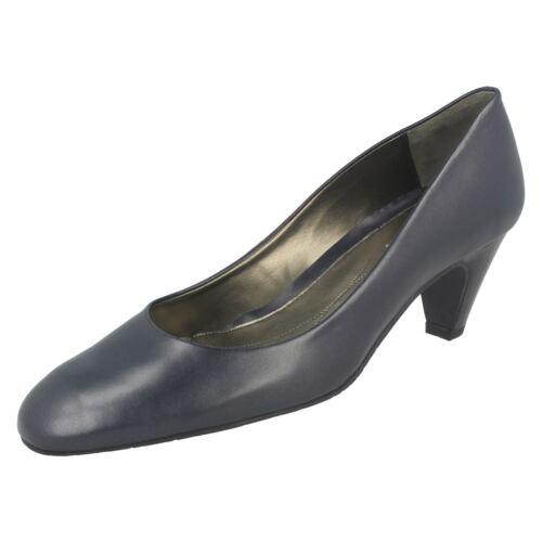 Van Classic blu pelle Chicago in Dal scarpe tacco slip in elegante pelle Navy con Ladies Swx4S