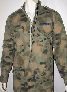 Buffalo-David-Bitton-men-039-s-military-jacket-size-large