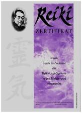 5 Reiki Zertifikate / Urkunden für den 3. Meister-Grad und kostl. Lehrereintrag