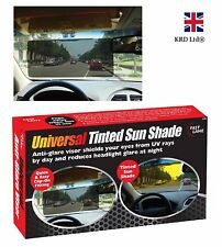 TINTED SUN SHADE Black Fade Windscreen Visor Extension Anti Dazzle Glare Reducer