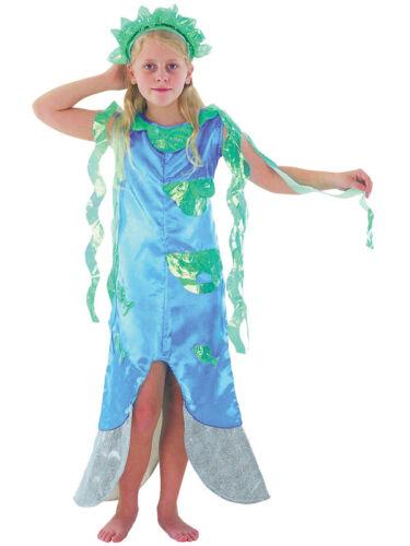 Child Blue Little Mermaid Fancy Dress Costume Kids Girls Female 3-10 Years Ariel