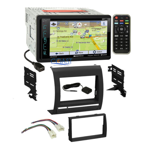 Soundstream GPS Bluetooth Stereo DDin Dash Kit Harness for 05-11 Toyota Tacoma