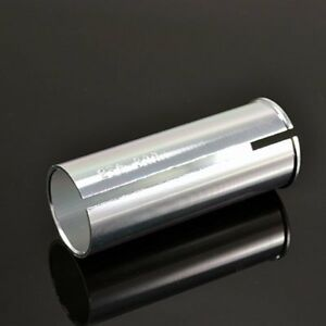 New 30.9mm Seat post to 27.2mm Seat Tube Shim Adapter  80mm Silver