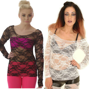 SEXY-LONG-SLEEVED-SEE-THROUGH-LACE-TOP-GOTH-ALTERNATIVE-BLACK-WHITE