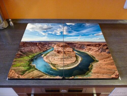 Herdabdeckplatte 2-teilig aus Glas Grand Canyon Nationalpark Arizona 60x52cm