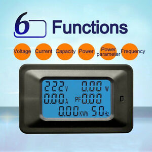 100A-Digital-Medidor-de-energia-de-energia-vatios-KWh-actual-Amperimetro-Voltimetro-AC-110V-250V