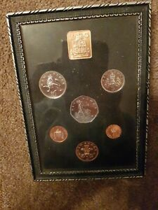 Royal Mint 1971 Proof Coin Set 6 Coins  of Great Britain Decimal FRAMED