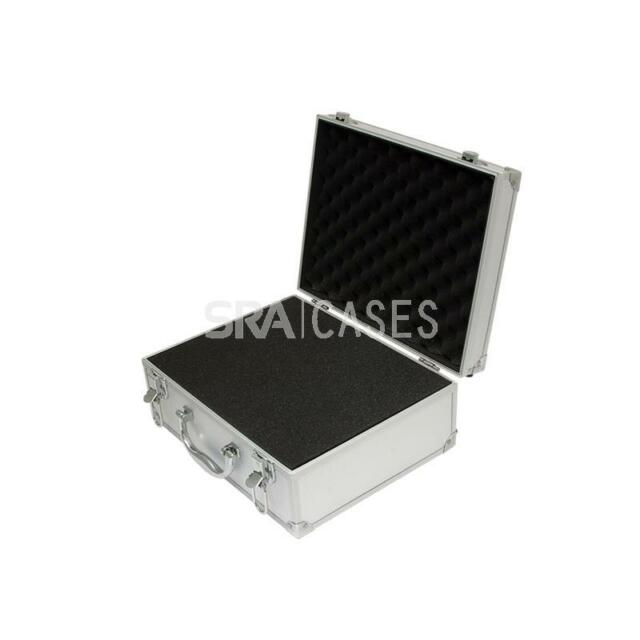 "SRA CASES A009 - Aluminum Hard Case with Foam - DJ, Camera - 12.2"" x 9.5"" x 5.1"""
