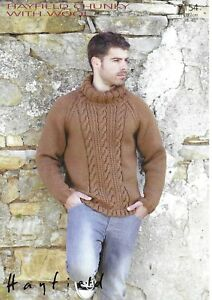 Sirdar 7154 Mens chunky sweater knitting pattern sizes 38 ...