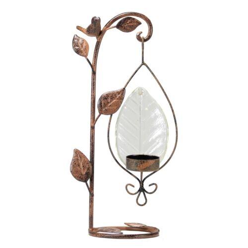 HeatherAnn.com Metal Table Top Candle Holder  w// Bird #62403