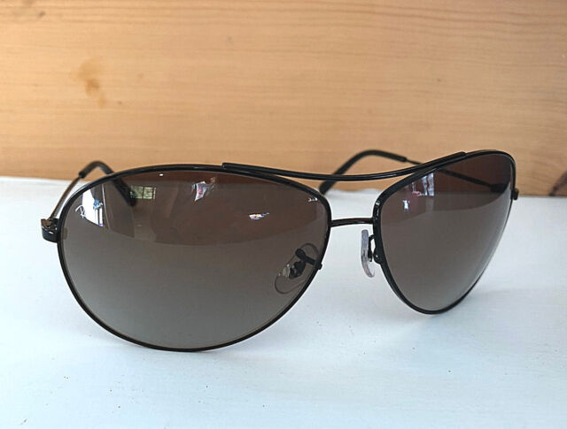bac14b3b2 Nice Ray-Ban Aviator Sunglasses Black Frames / Brown Gradient RB3454L 002 8E
