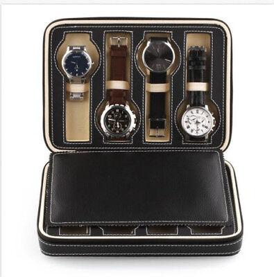 Coffret Cuir pour 8 Montres Boîte à Montre Boîtier Rangement Bijoux Pro   eBay
