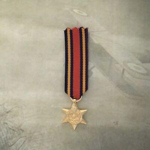 BURMA STAR MEDAL | MINI |  GOLD | AUSTRALIA | WWII  | WORLD WAR TWO