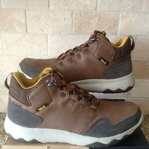 8b18df538 TEVA ARROWOOD LUX MID WATERPROOF BROWN LEATHER SHOES BOOTS SIZE US ...