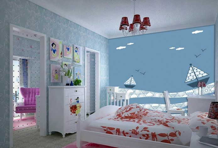 3D Boat cartoon 1383 Paper Wall Print Decal Wall Wall Murals AJ WALLPAPER GB