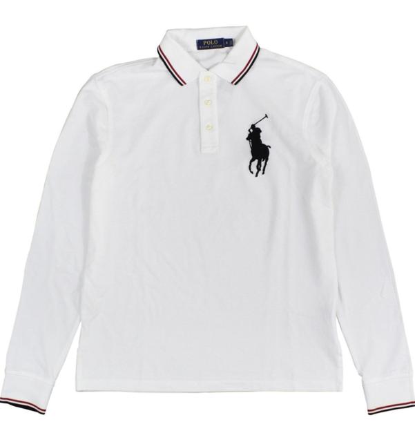 2c259a3edb7b0a Polo Ralph Lauren Men s Long Sleeve Big Pony Classic Fit White Polo ...