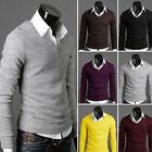 2015 Herren Schmal V-ausschnitt Pullover Freizeit-pullover Ergründende Hemd